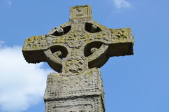 Celtic cross. Monument in Clones, Ireland royalty free stock image