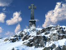 Celtic Cross on Mountain Royalty Free Stock Photography