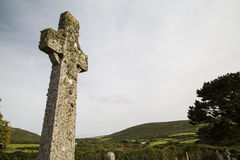 Celtic cross near zennor cornwall uk Royalty Free Stock Photos