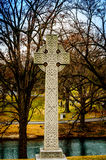 Celtic Cross. Nice celtic cross overlooking a lake in a  beautiful setting Stock Photography