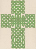 Celtic Cross painted Royalty Free Stock Images