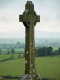 Celtic cross at the rock of Cashel, Ireland Royalty Free Stock Photography