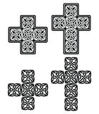 Celtic cross - set of traditional designs in black Royalty Free Stock Photos