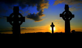 Celtic Cross three Stock Photos