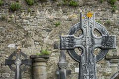 Celtic cross on a tomb Royalty Free Stock Photos
