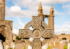 Celtic cross tombstone Royalty Free Stock Photography