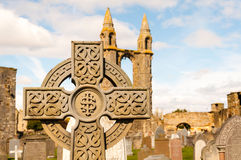 Celtic cross tombstone Stock Photography