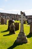 Celtic cross tombstone Stock Photos