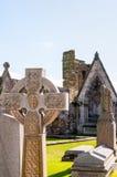 Celtic cross tombstone Royalty Free Stock Photo