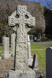 Celtic cross with traditional knotwork Stock Image
