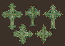Celtic Cross Vector Designs Royalty Free Stock Photography