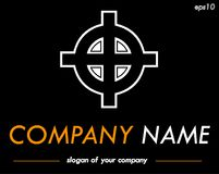 Celtic cross vector logo template, ready logotype for a company Stock Photo