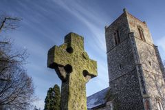Celtic Cross at Weston, Suffolk, England Stock Images