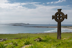Celtic Cross. On wild Atlantic coast Stock Photo