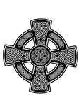 Celtic cross2. Vector image Celtic cross with patterns Royalty Free Stock Photography