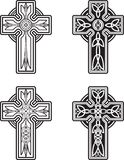 Celtic Crosses vector illustration