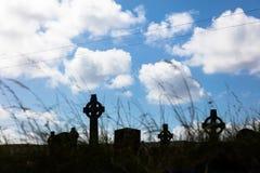 Celtic crosses in Aran Island. Celtic crosses in cemetery, Aran Islands, Ireland Stock Images
