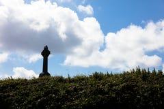Celtic crosses in cemetery Stock Photo
