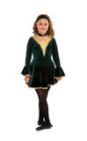 Celtic Dancer in Green Costume Royalty Free Stock Image