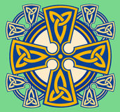 Celtic Decorative Cross. With interlacing patterns as a symbol of eternity Royalty Free Stock Image
