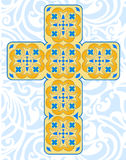 Celtic Decorative Cross. With interlacing patterns as a symbol of eternity stock illustration