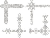 Celtic decorative knot corners Royalty Free Stock Photos
