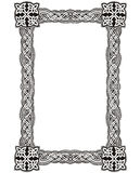 Celtic decorative knot frame vector illustration