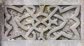 Celtic design detail on gravestone Royalty Free Stock Photos