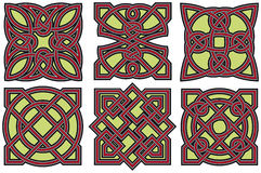 Celtic design elements set Royalty Free Stock Photography