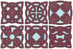 Celtic design elements set Royalty Free Stock Photos