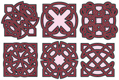 Celtic design elements set Royalty Free Stock Images