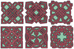 Celtic design elements set Stock Image