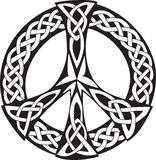 Celtic Design - Peace symbol. An illustration of a Celtic design with a pattern of knotted lines, isolated on white background. Peace symbol, great for tatto or Royalty Free Illustration