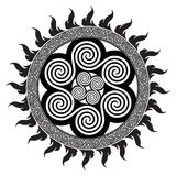 Celtic design - Spiral Celtic Sun Royalty Free Stock Photography