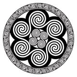Celtic design - Spiral Celtic Sun stock illustration