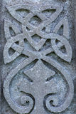 Celtic design symbol gravestone detail Royalty Free Stock Photography