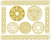 Celtic designs. Illustration set of celtic designs including knots and borders Royalty Free Stock Photos