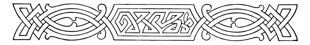 Free Celtic Divider Is A Intertwining Knots Pattern, Vintage Engraving Stock Images - 163222654