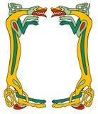 Celtic dog frame. Celtic animals frame. Outline is expanded Stock Image
