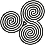 Celtic Double Spirals Labyrinth Stock Photos