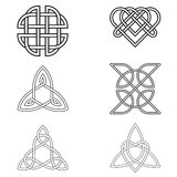Celtic Endless Knot  isolated on white background Stock Images