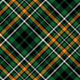 Celtic fc diagonal green tartan seamless pattern fabric texture Royalty Free Stock Photography
