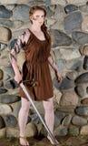 celtic flickakrigare arkivbilder