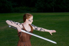 celtic flickakrigare Arkivbild