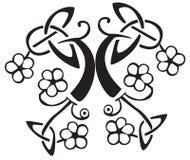 Celtic flower design stock illustration