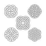 Celtic fnuren för vektor etnisk prydnad royaltyfri illustrationer