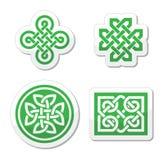 Celtic fnurror mönstrar -   Fotografering för Bildbyråer