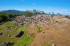 Celtic fort wide angle Royalty Free Stock Photos