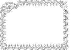 Celtic frame. Celtic ornament framing on white background Stock Photo
