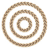 Celtic frame circle Royalty Free Stock Image